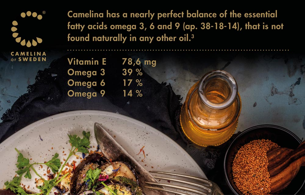 Camelina oil is very nutritious