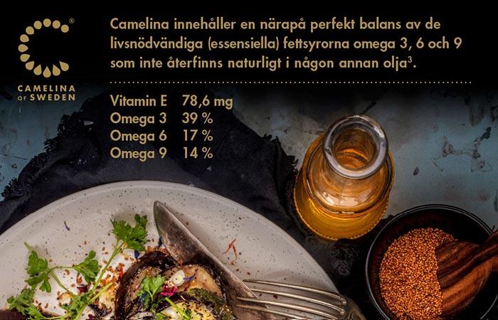 camelinaolja har perfekt balans av fettsyror